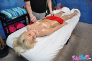 Hot And Sexy Blonde 18 Year Old Kaylee Hays Gets Fucked Hard From Behind By Her Massage Therapist - Picture 8