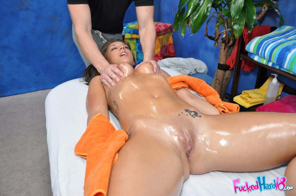 image Hot oil massage my tits hd